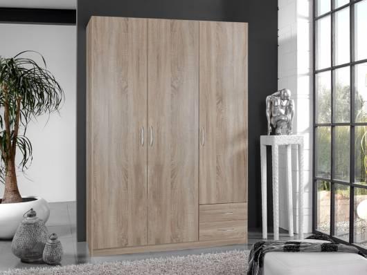 SWEN Kleiderschrank 3-türig, Material Dekorspanplatte