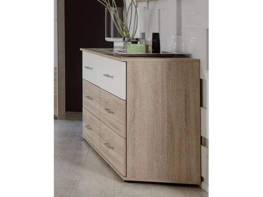 flores schubkastenkommode eiche s gerau weiss. Black Bedroom Furniture Sets. Home Design Ideas