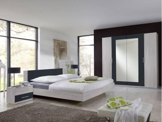 FLORES I Komplett-Schlafzimmer, Material Dekorspanplatte