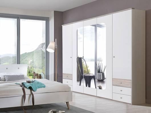 BATIDA Drehtürenschrank mit Spiegeltür, Material Dekorspanplatte
