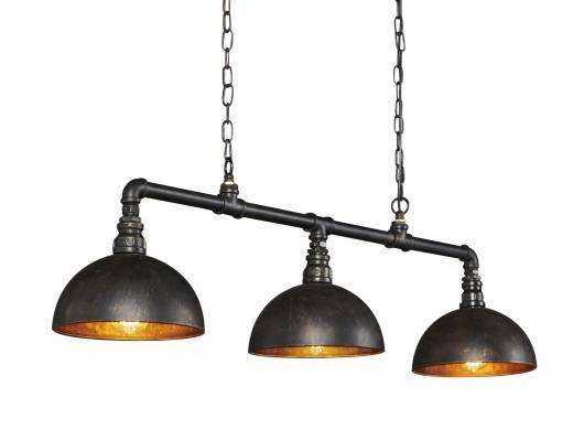 LEAH Hängelampe 3 Lampen Halbkugel-Lampenschirm