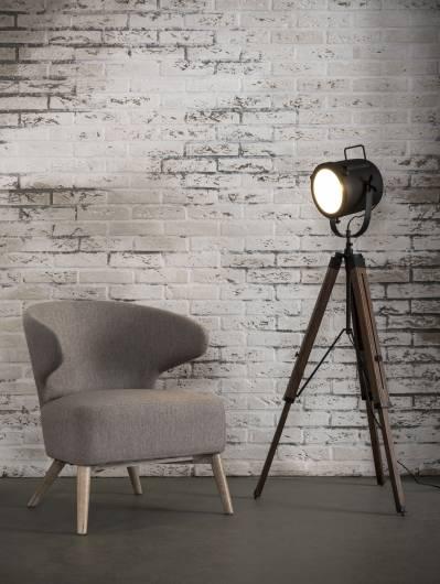 LINA Stehlampe Tipod Vintage Holzstativ