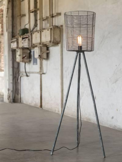 LEVI Stehlampe hoch Korb Metall-Beine