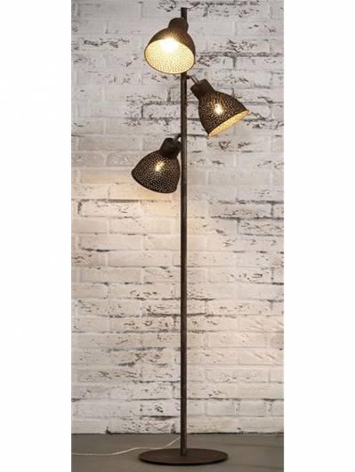 IRON Stehlampe mit 3 Lampen