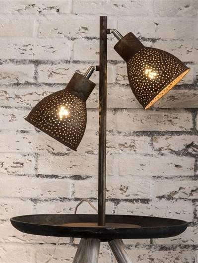 IRON Tischlampe mit 2 Lampen