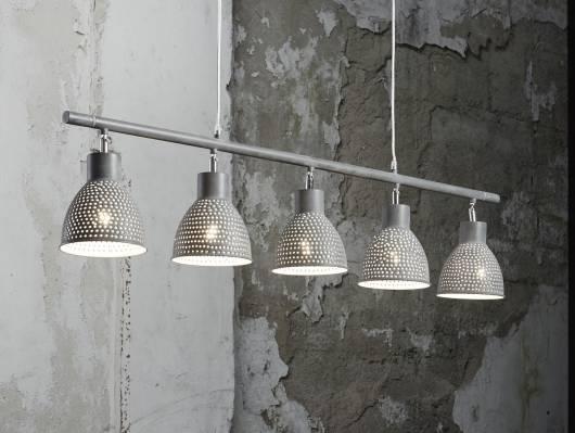IRON Hängelampe mit 5 Lampen