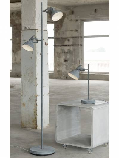 CUP Stehlampe mit 2 Leuchten Concrete