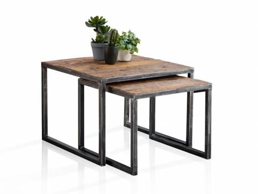 QUINCE Zweisatztisch / Couchtische, Material Massivholz