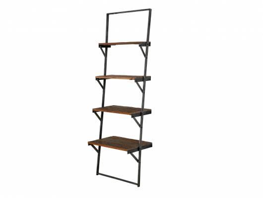 TAIJA Wandregal Treppe, Material Massivholz/Metall