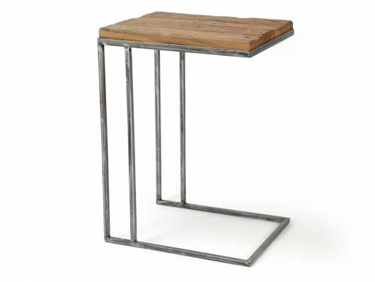 LUCCA Beistelltisch / Laptop-Tisch, Material Massivholz