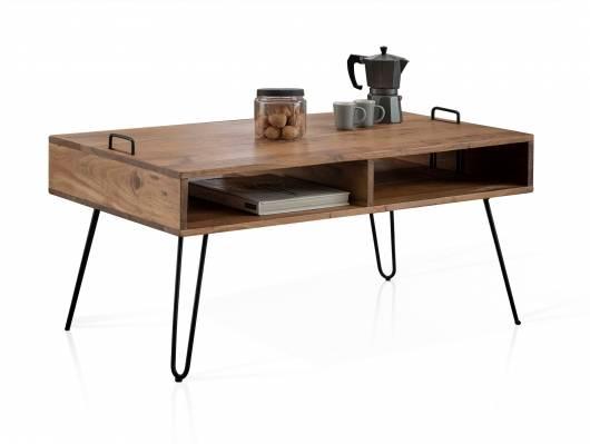 OJAN Couchtisch 100x60 cm, Material Massivholz, Akazie