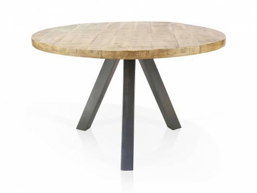 ZANTA Esstisch rund, Material Massivholz, Mangoholz