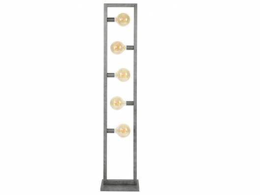 RANDA Stehlampe, 5 Leuchten, Material Metall