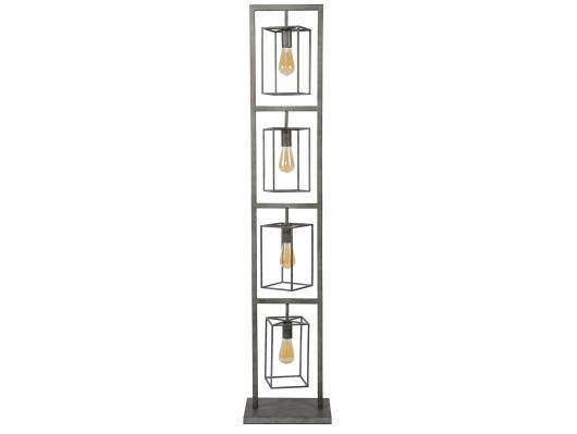 TORIGON Stehlampe mit 4 Leuchten, Material Metall