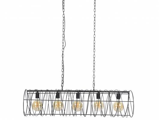 TIRANA Pendelleuchte mit 5 Leuchten, Material Metall