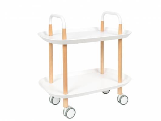 TESSINA Servierwagen mit 2 Ablagen, Material Massivholz/Kunststoff