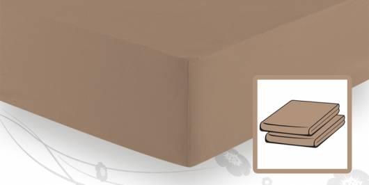 Schlafgut BASIC Jersey Spannbetttuch/Spannbettlaken 140x200 bis 160x200