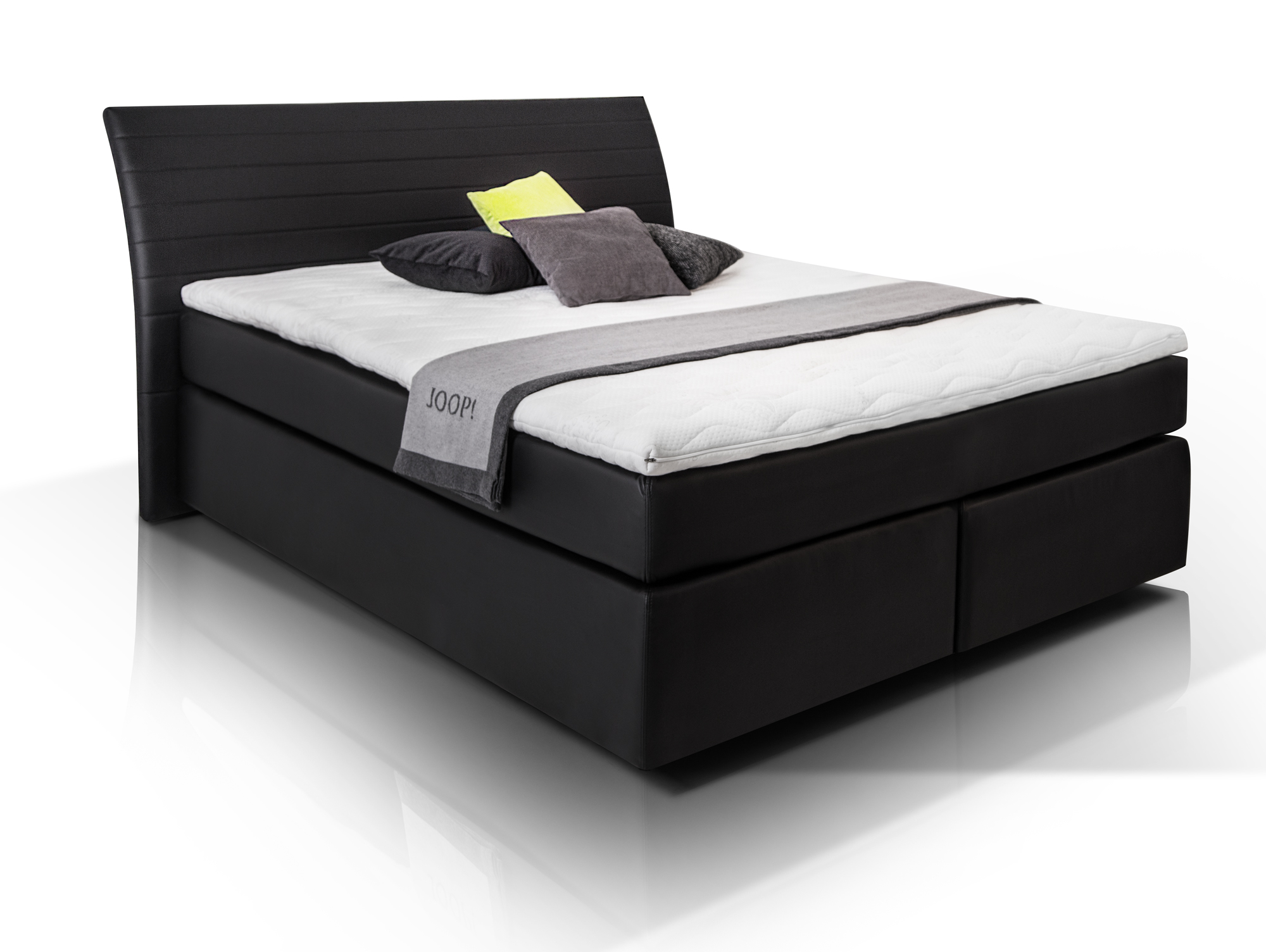 heaven boxspringbett kunstlederbezug 180 x 200 cm schwarz h rtegrad 2. Black Bedroom Furniture Sets. Home Design Ideas