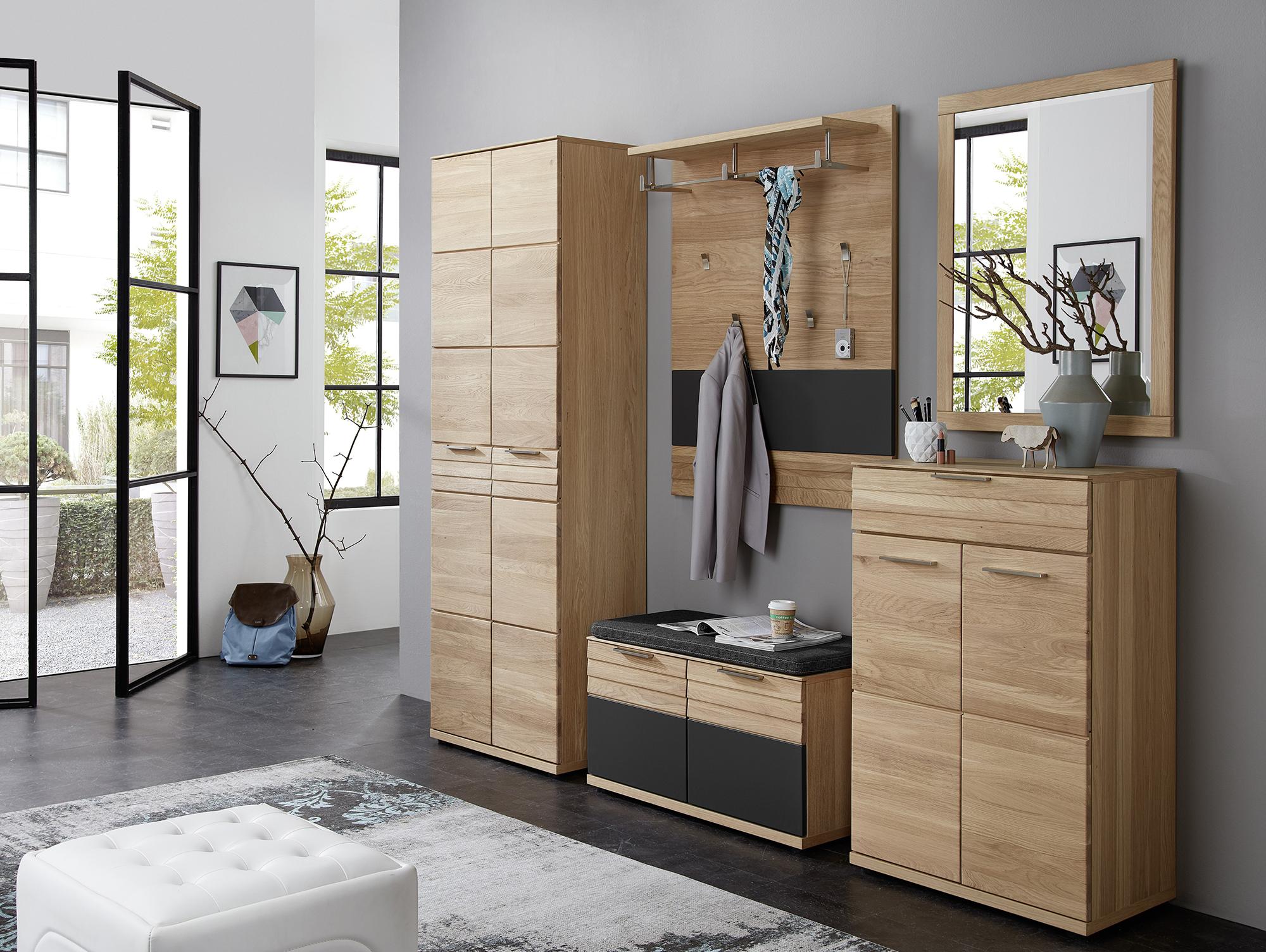 ambar i 5 teiliges garderobenset wildeiche teilmassiv. Black Bedroom Furniture Sets. Home Design Ideas