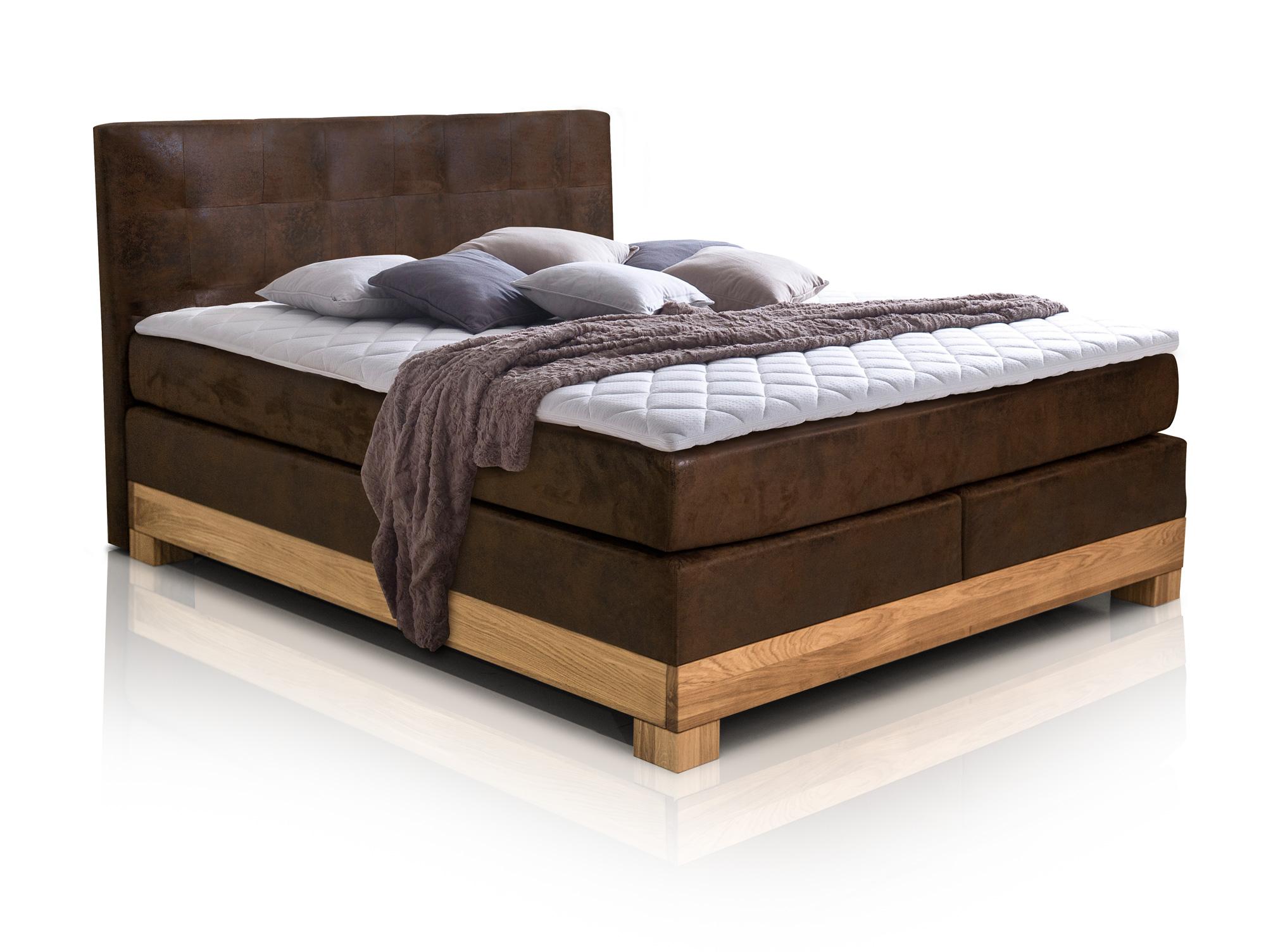 arche ii boxspringbett buffalo braun 160 x 200 cm buche h rtegrad 2. Black Bedroom Furniture Sets. Home Design Ideas