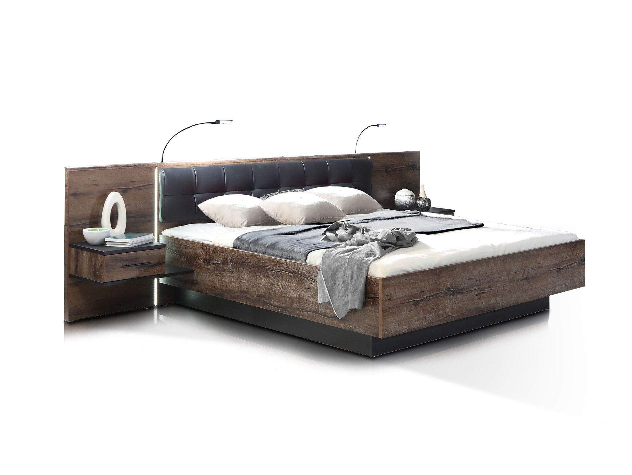 berlin bettanlage schlammeiche schwarzeiche 180 x 200 cm. Black Bedroom Furniture Sets. Home Design Ideas