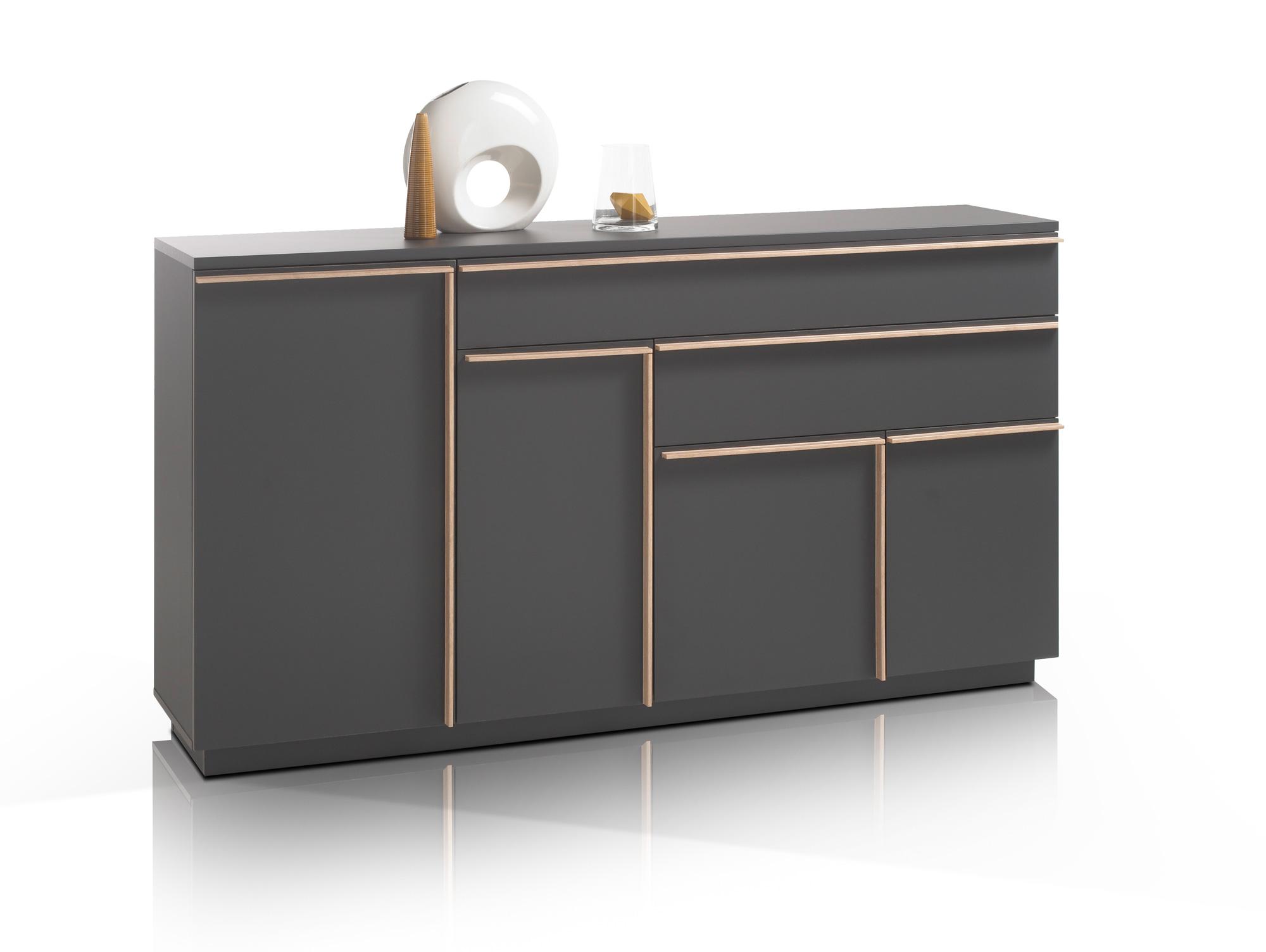 express m bel kommode schlafzimmerschrank graphit nachbildung bxhxt 140x80x42 cm art nr 30804. Black Bedroom Furniture Sets. Home Design Ideas