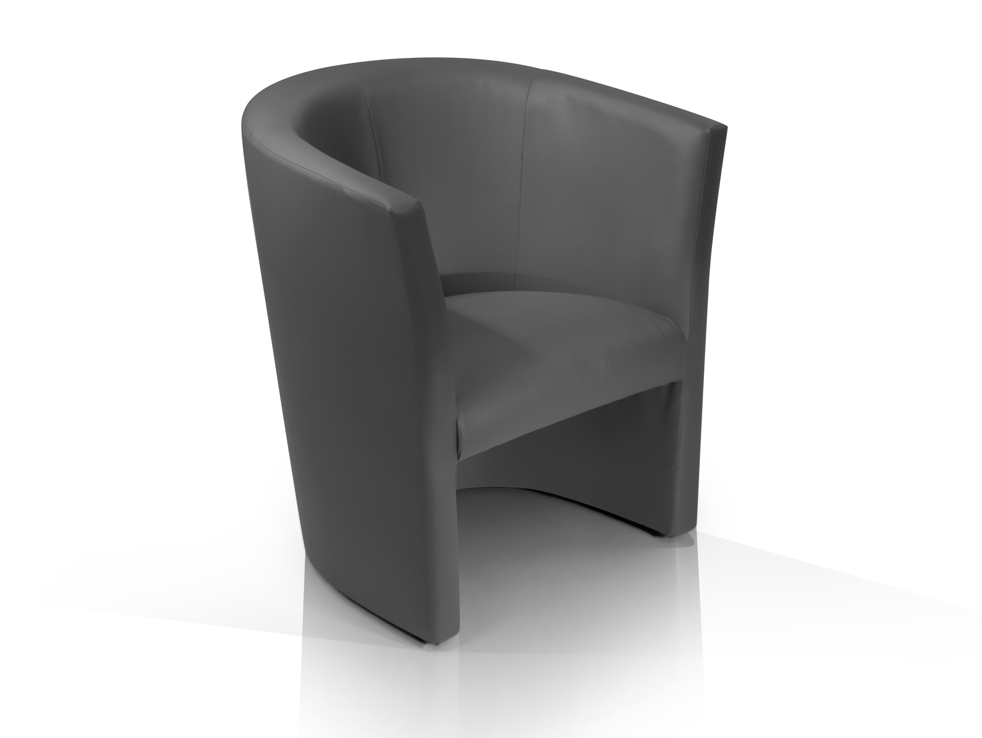 charly sessel cocktailsessel im lederlook grau. Black Bedroom Furniture Sets. Home Design Ideas