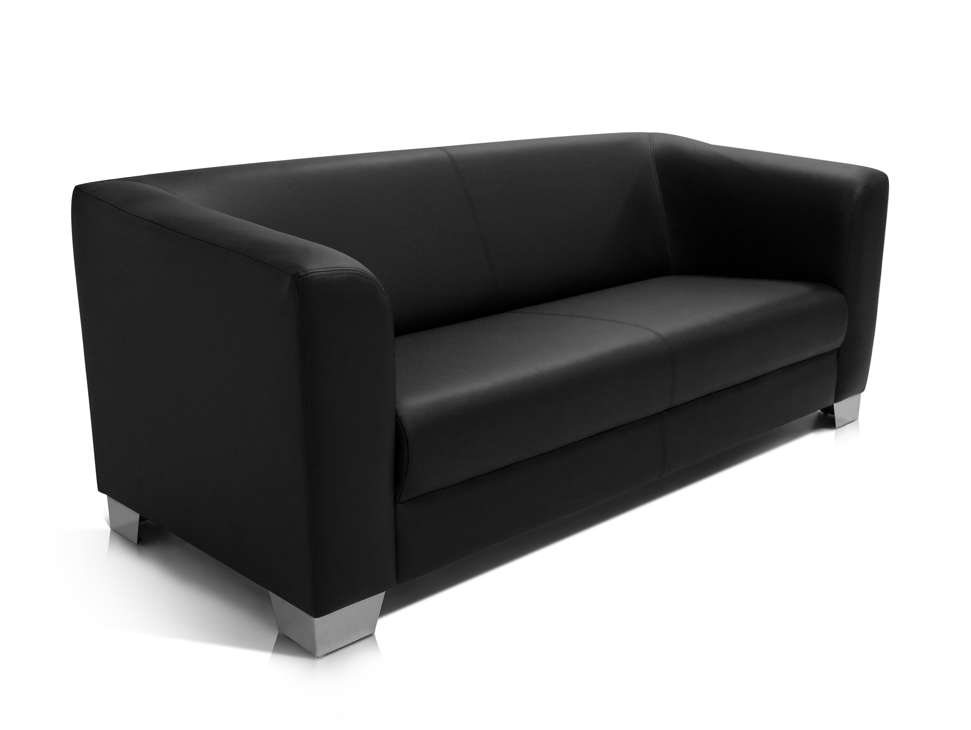 chicago 3 sitzer sofa ledersofa schwarz. Black Bedroom Furniture Sets. Home Design Ideas