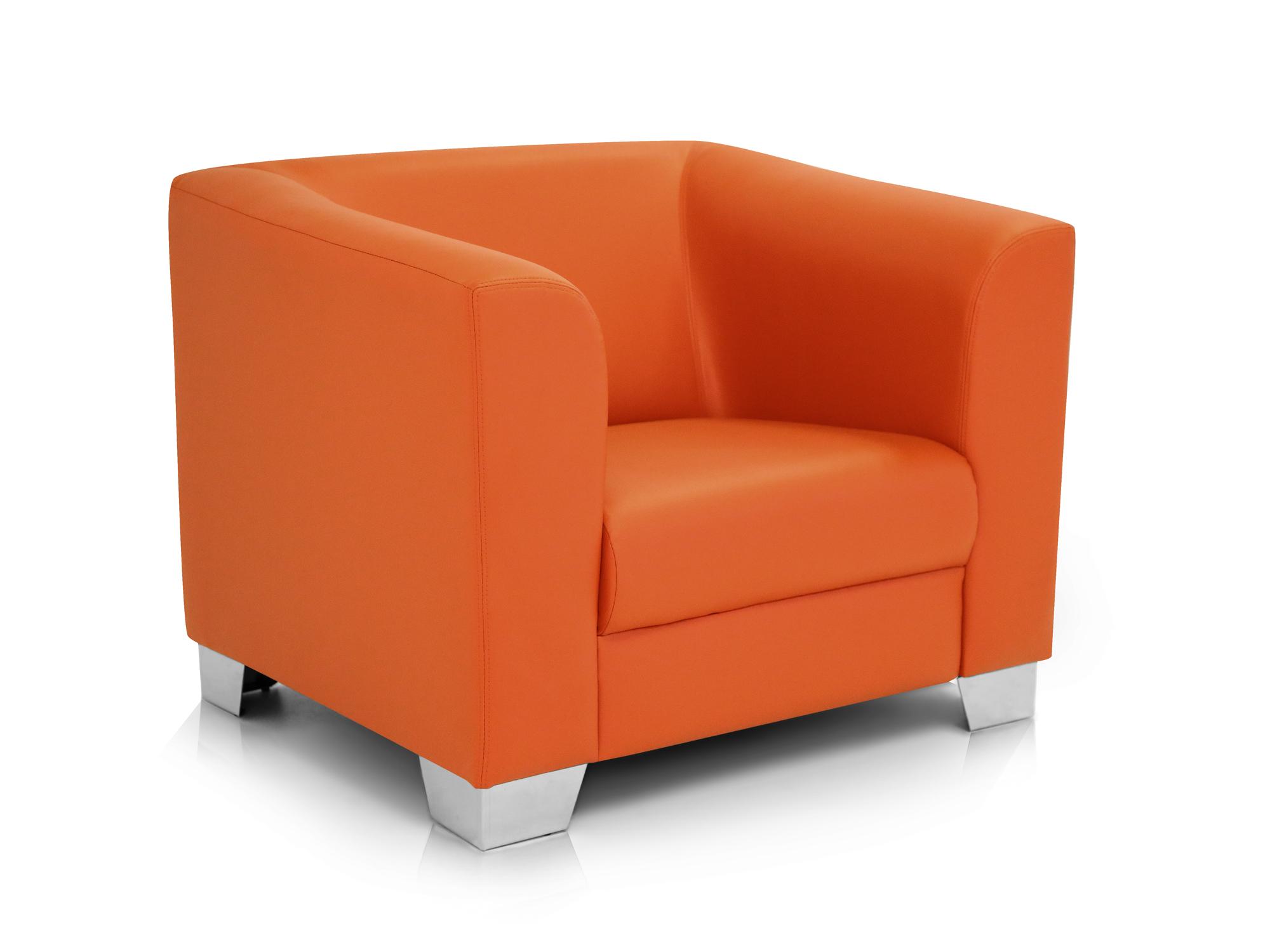 chicago sessel ledersessel orange. Black Bedroom Furniture Sets. Home Design Ideas