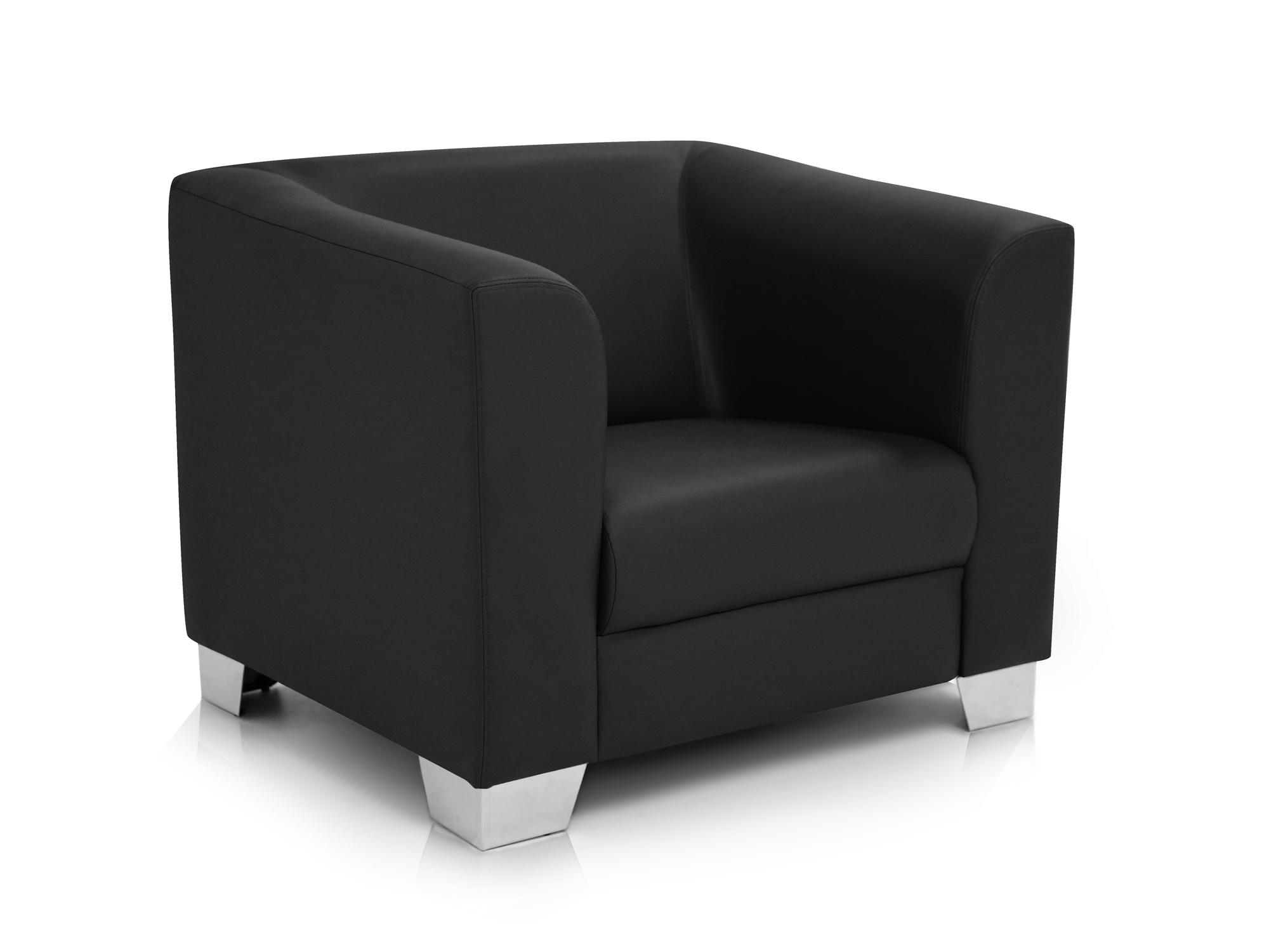 chicago sessel ledersessel schwarz. Black Bedroom Furniture Sets. Home Design Ideas