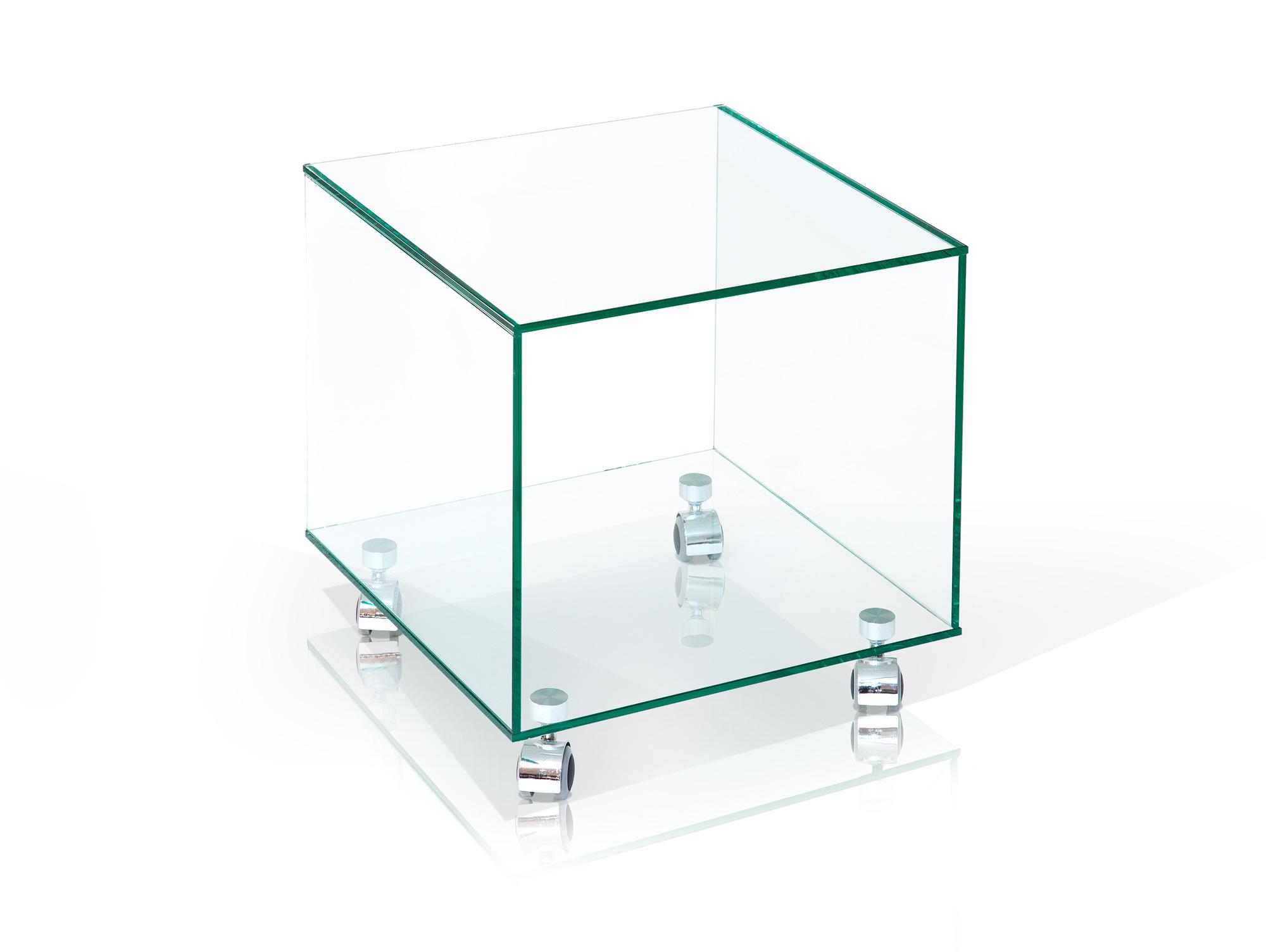 Cube beistelltisch auf rollen 38x38 cm for Beistelltisch cube