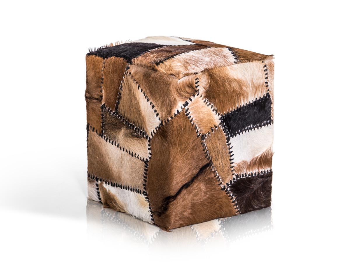 goat hocker w rfel mit ziegenfell. Black Bedroom Furniture Sets. Home Design Ideas