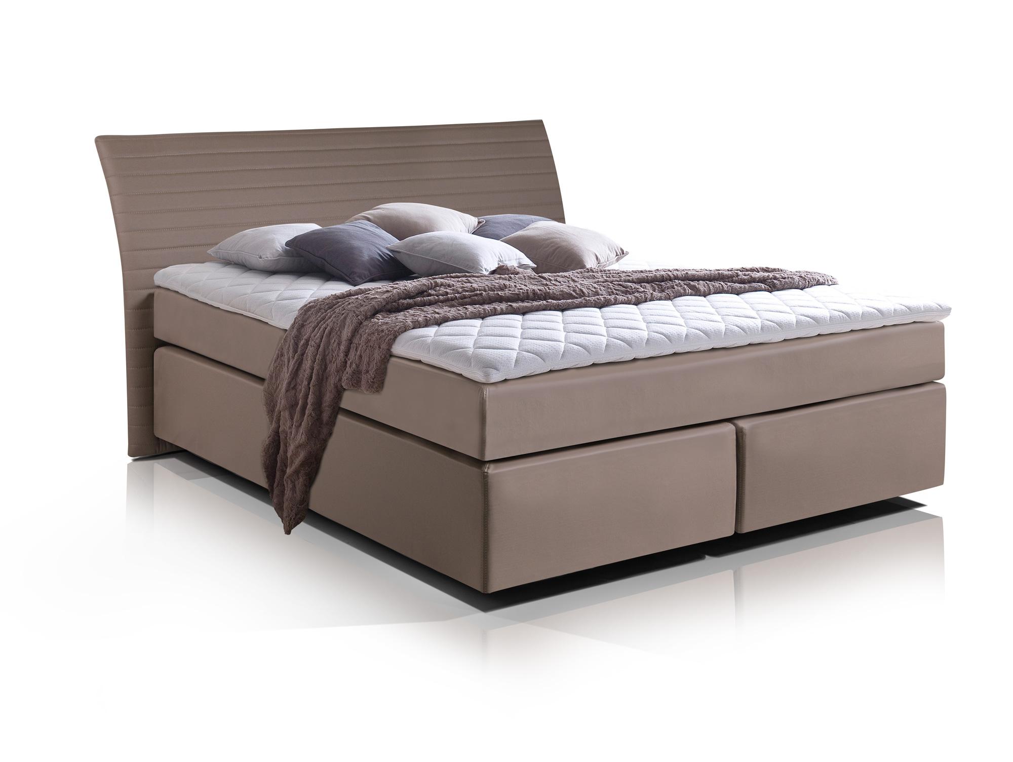 heaven boxspringbett kunstlederbezug 160 x 200 cm muddy h rtegrad 2 3. Black Bedroom Furniture Sets. Home Design Ideas