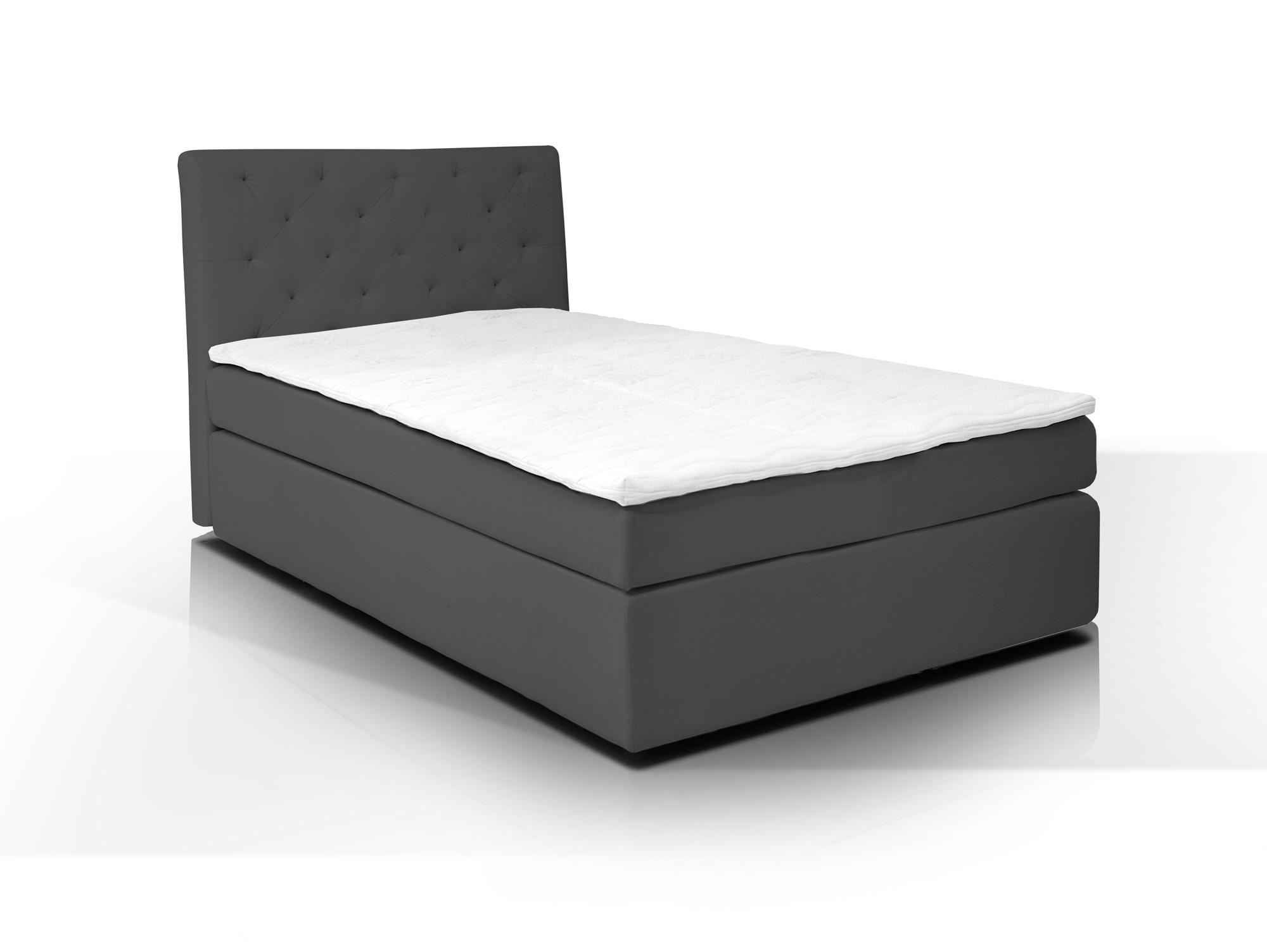 hotel boxspringbett webstoffbezug 80 x 200 cm anthrazit h rtegrad 2. Black Bedroom Furniture Sets. Home Design Ideas