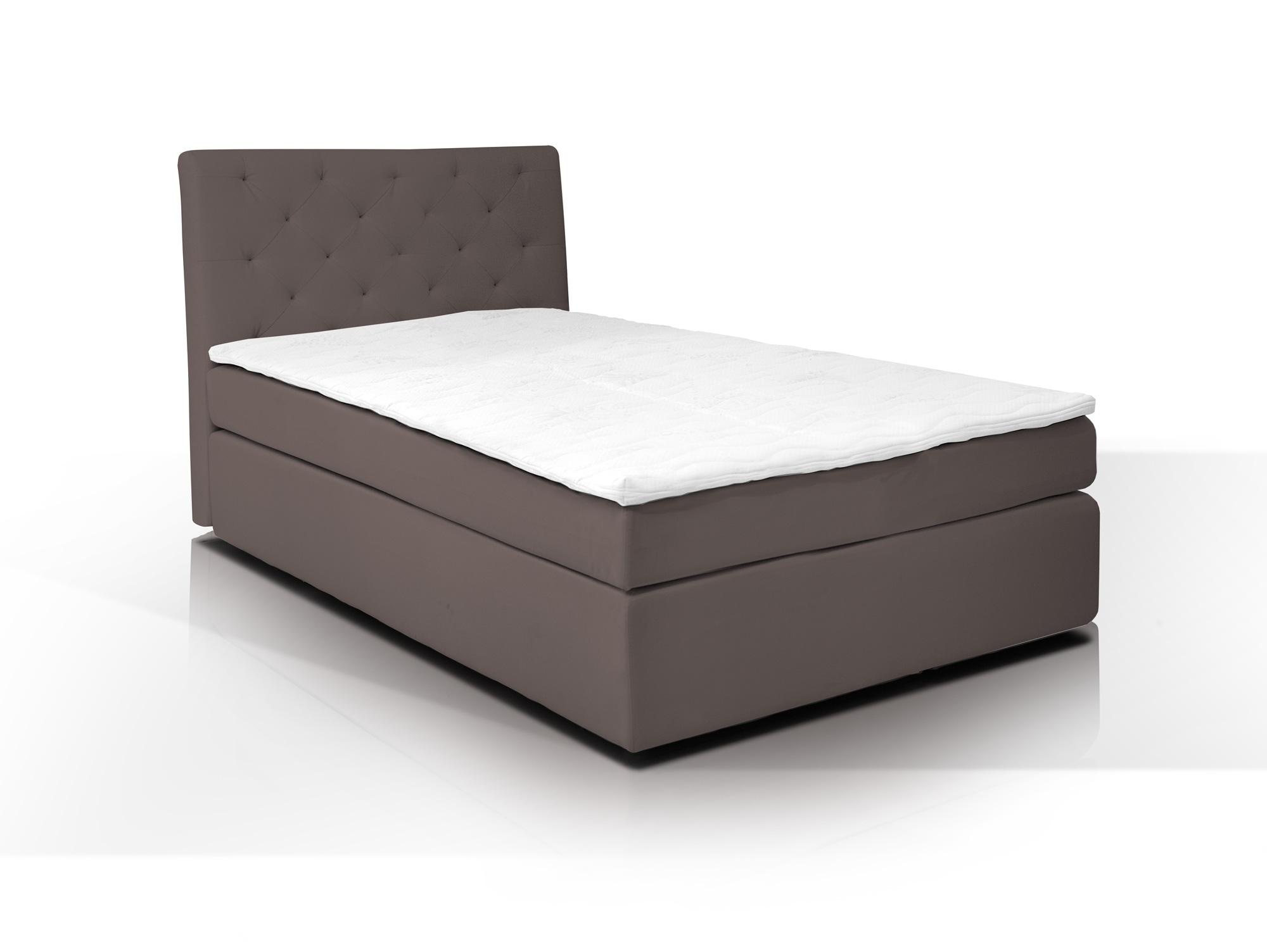 hotel boxspringbett webstoffbezug 80 x 200 cm braun. Black Bedroom Furniture Sets. Home Design Ideas