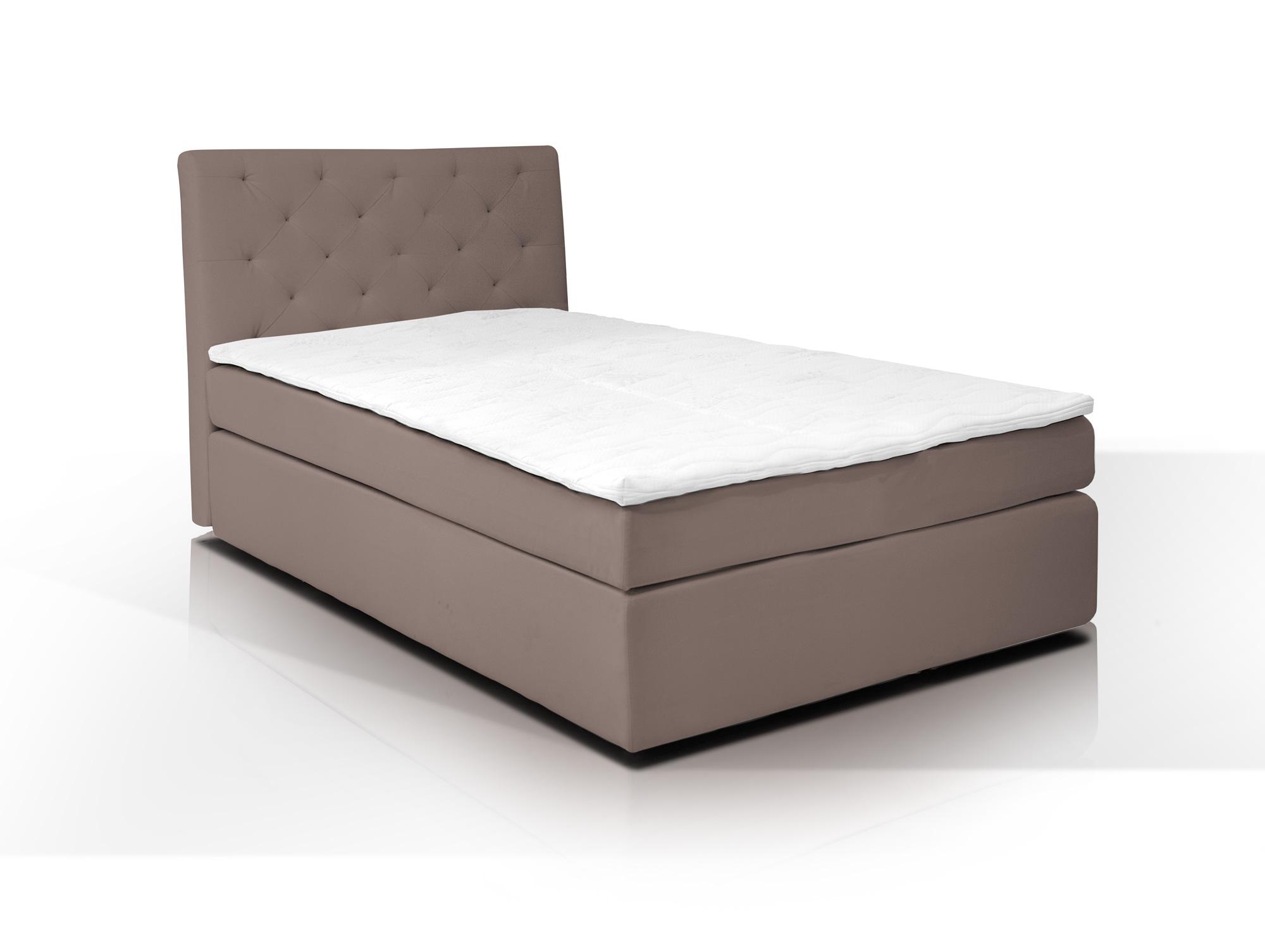 boxspringbett hotel webstoffbezug 80 x 200 cm hellbraun h rtegrad 3. Black Bedroom Furniture Sets. Home Design Ideas