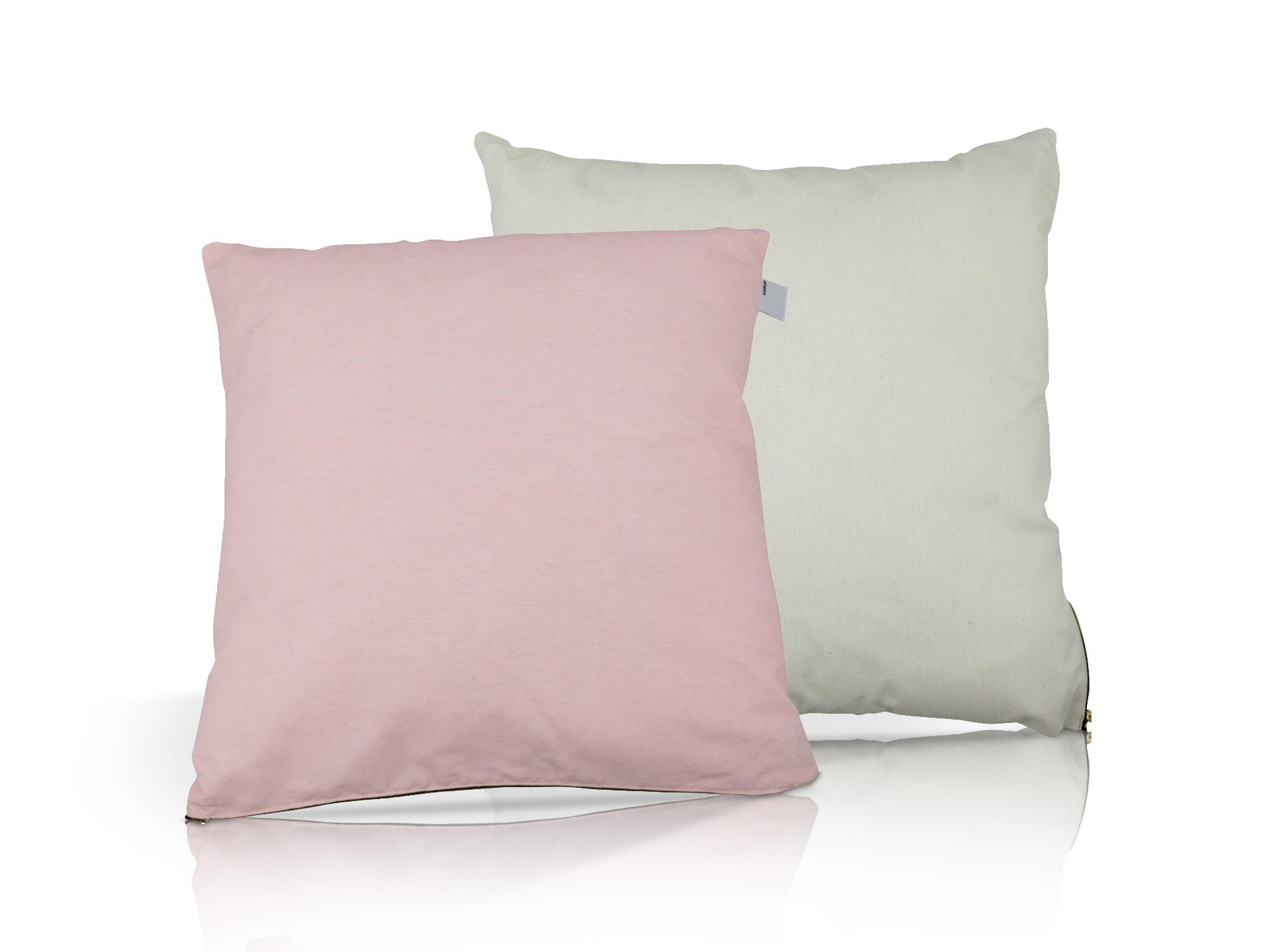kissen 2er set pastell pink natur. Black Bedroom Furniture Sets. Home Design Ideas