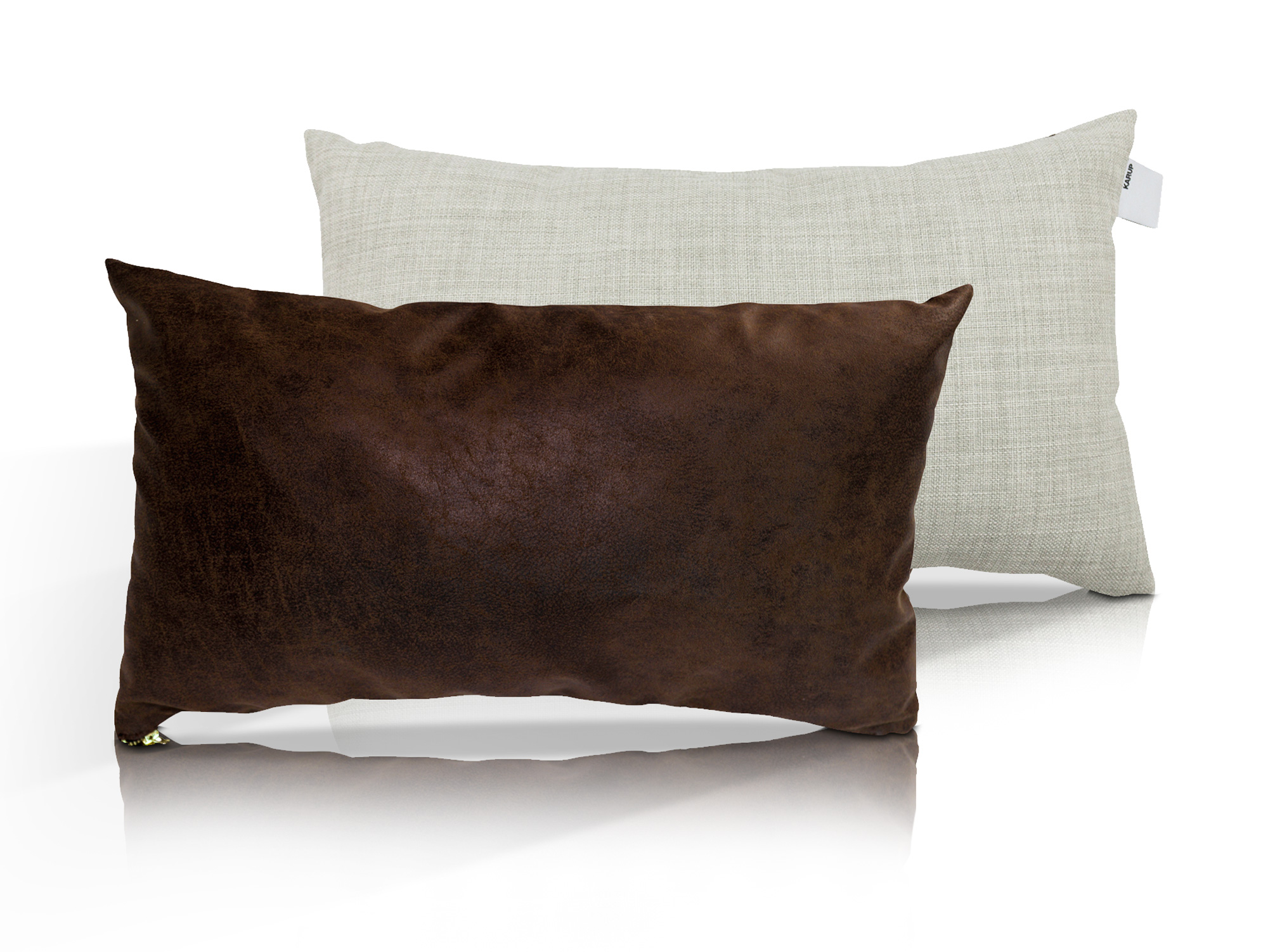 kissen 2er set vintage mocca hellgrau. Black Bedroom Furniture Sets. Home Design Ideas