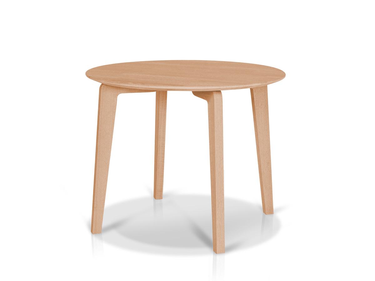 Lani esstisch rund 95 cm massivholz kernbuche lackiert for Massivholz tisch rund