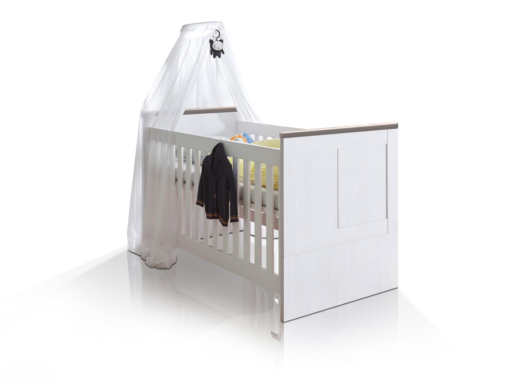 lucy babybett 70x140 cm pinie wei tr ffel. Black Bedroom Furniture Sets. Home Design Ideas