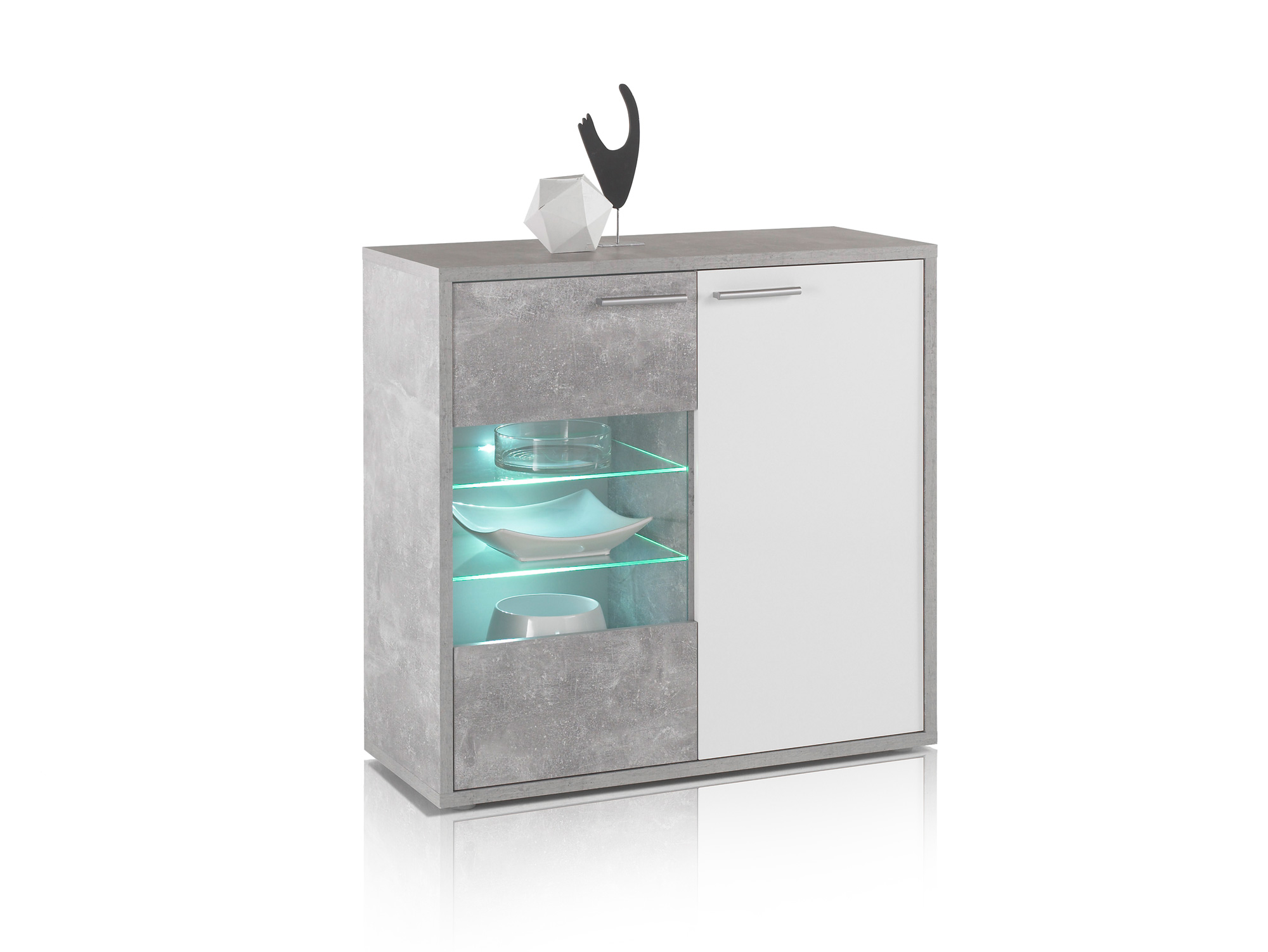 Gläserschrank maric gläserschrank beton weiß