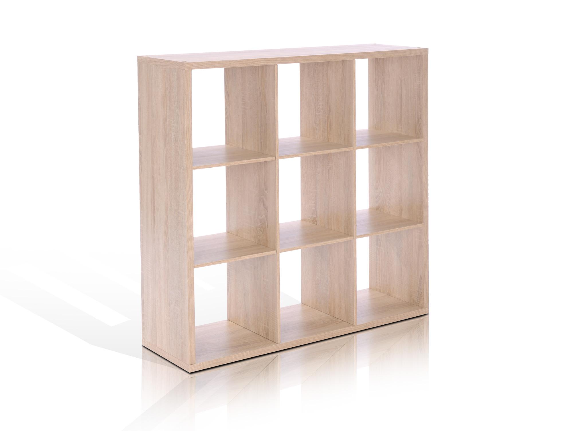 maxi regal 9 f cher eiche sonoma. Black Bedroom Furniture Sets. Home Design Ideas