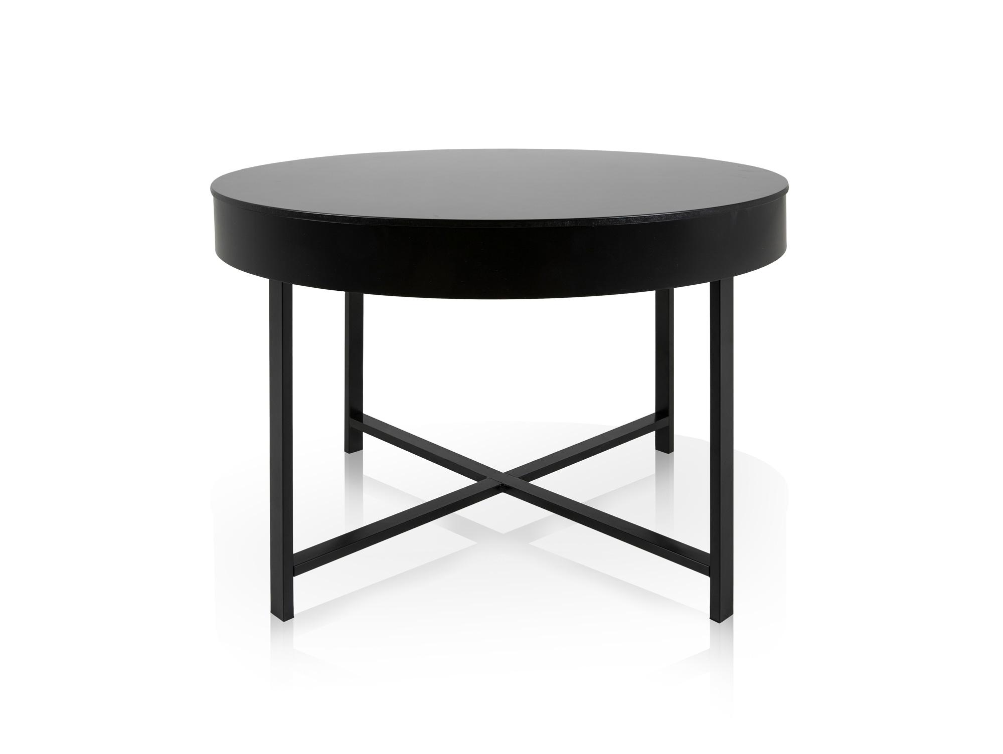 misty couchtisch durchmesser 70 cm schwarz. Black Bedroom Furniture Sets. Home Design Ideas
