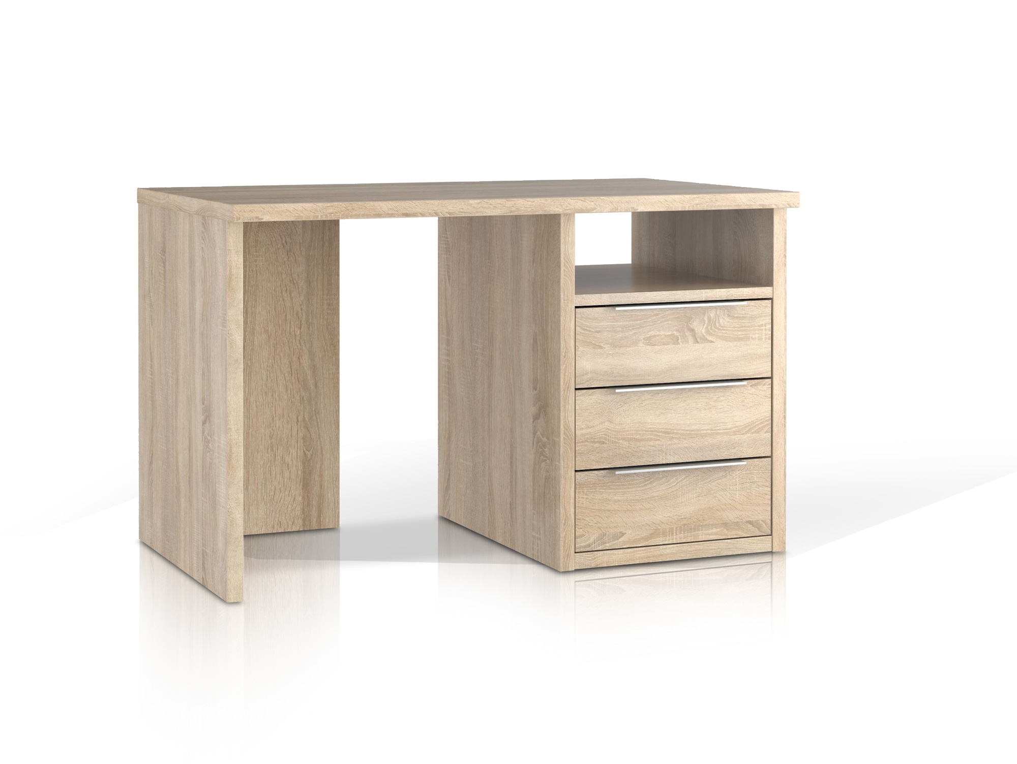 orca schreibtisch 120 cm schubladen rechts eiche sonoma. Black Bedroom Furniture Sets. Home Design Ideas