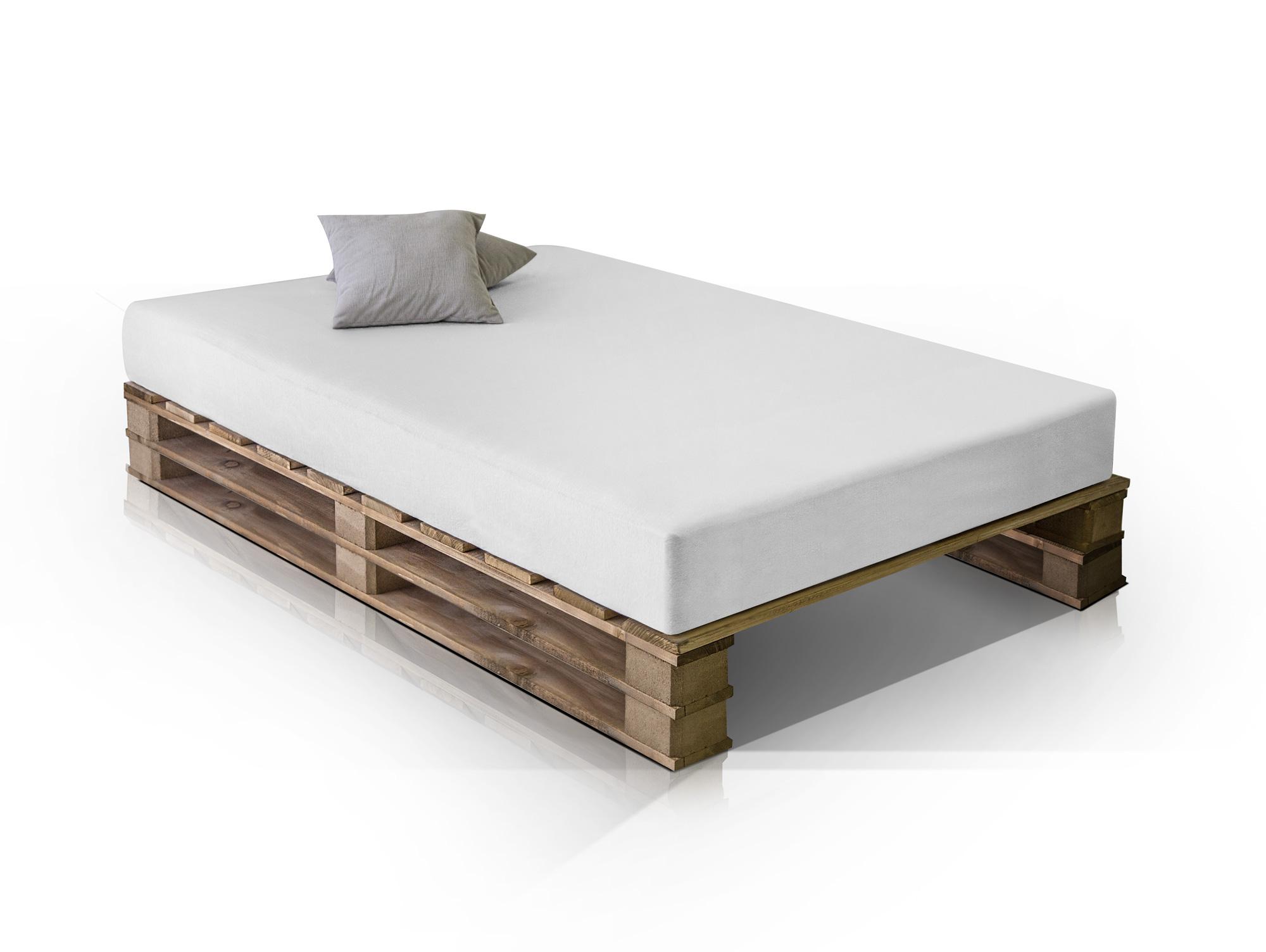paletti duo massivholzbett palettenbett rustikal gebeizt 120 x 200 cm. Black Bedroom Furniture Sets. Home Design Ideas