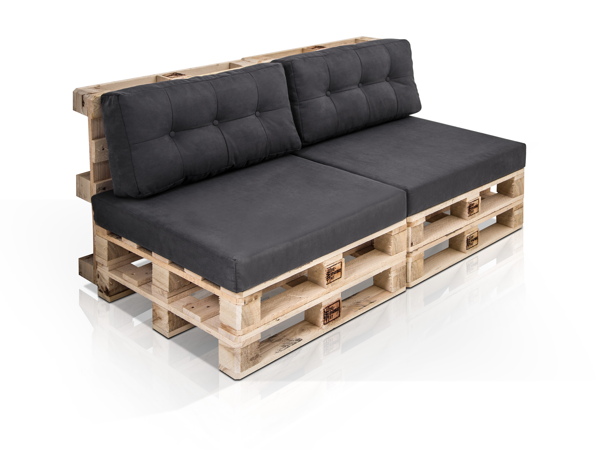den couches paletti 2 sitzer sofa aus paletten natur ohne. Black Bedroom Furniture Sets. Home Design Ideas