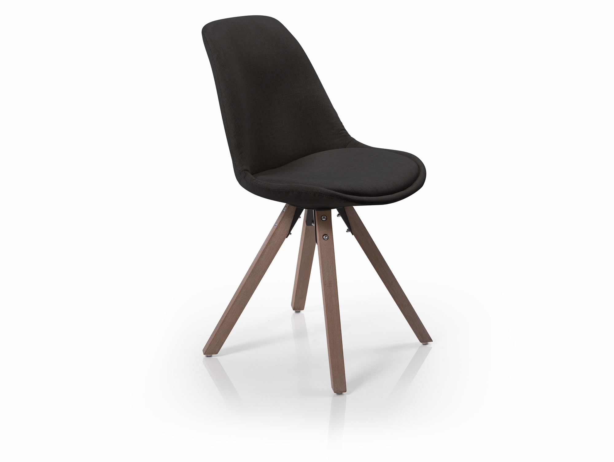 Pitu esstischstuhl schalenstuhl stoffbezug schwarz for Schalenstuhl schwarz