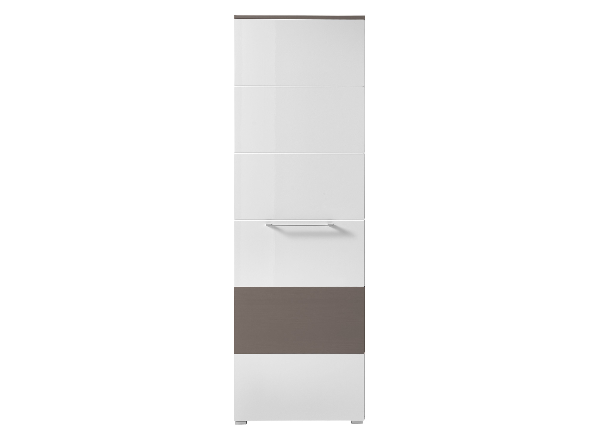 rene garderobenschrank hochglanz weiss hg grau. Black Bedroom Furniture Sets. Home Design Ideas