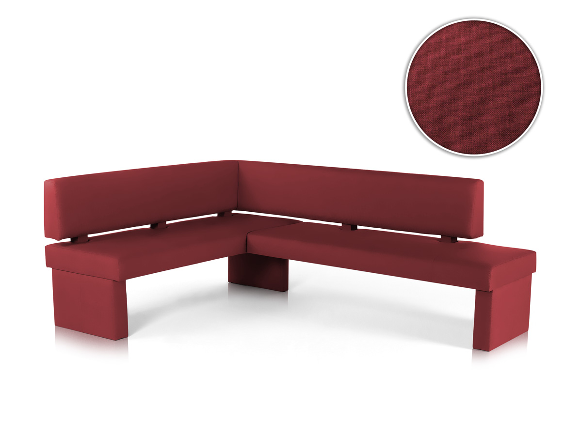 spider eckbank mit stoffbezug kaminrot links 147 x 167 cm. Black Bedroom Furniture Sets. Home Design Ideas