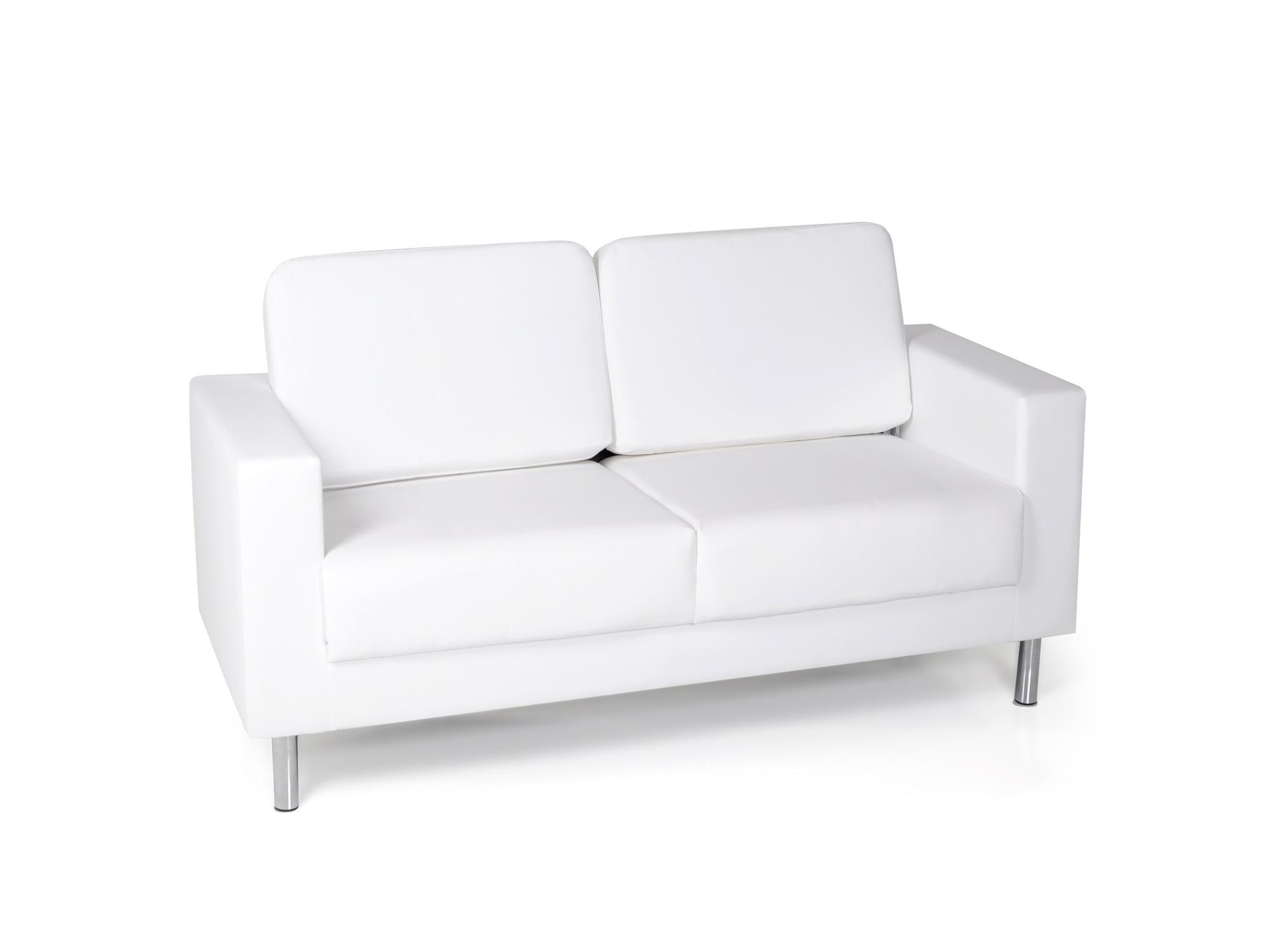 susi 2 sitzer sofa kunstleder weiss. Black Bedroom Furniture Sets. Home Design Ideas